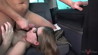 Small glassed student receive ride of her fantasies with wang in bawdy cleft