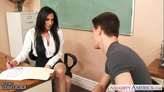 Busty sex teacher jaclyn taylor receives gangbanged in classroom