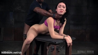 Rough deepthroating and ferocious thraldom fucking experience for cute chick