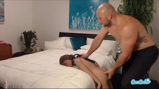 Jmac acquires oral sex anal and doggie from real doll in advance of cumming in her arse