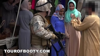 Tour of butt - operation fur pie run with soldiers in the midst east!